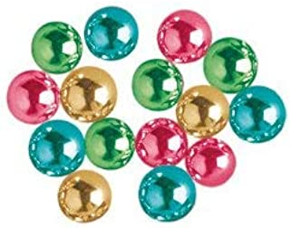 O'Creme Multicolor Dragees Cake Decorating Supplies for Bakers: Cookie, Cupcake & Icing Toppings, Bright Metallic Sphere Sprinkles Decoration, Kosher Certified, Round Sugar Ball Accents (4mm 16 Oz)