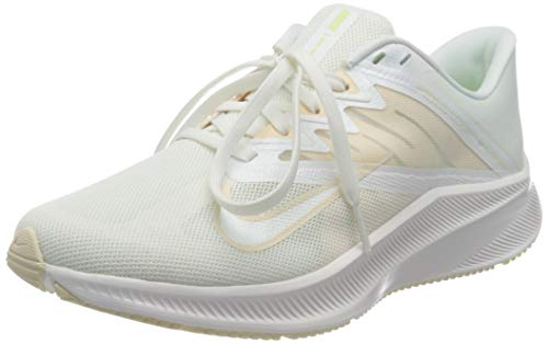 Nike Wmns Quest 3, Scarpe da Corsa Donna, Summit White/Guava Ice-Barely Volt, 40.5 EU