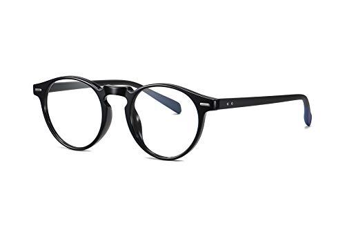 SKILEC Gafas Anti Luz Azul Gafas Lectura Hombre Mujer Gafas Ordenador TR Filtro Protección Azul UV Gafas Presbicia Hombre Antifatiga para PC Gaming Tablet TV Videojuegos Lentes Transparentes (Negro)