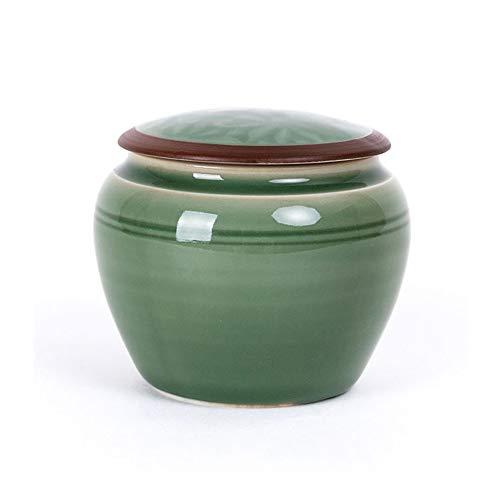 XinQing Tanque de Almacenamiento de Alimentos Celadon Carrito de té, Sellado Nuevo de Mantenimiento de la Jarra, Ciruela Verde, 280ML