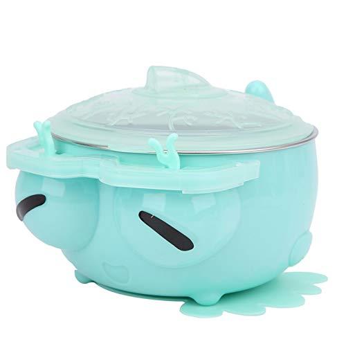 Cuenco de agua de acero inoxidable, fácil de limpiar para bebés/bebés/niños pequeños(green)
