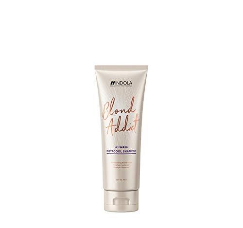 Indola Innova Blond Addict #1 Wash Instacool Shampoo Shampooing Cheveux blonds 250ml