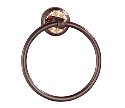 LYNNMJH Anillo de Toalla,Estilo Europeo Todos de Bronce Toallero,Baño Cocina Accesorios, Impermeable/marrón / 155 mm