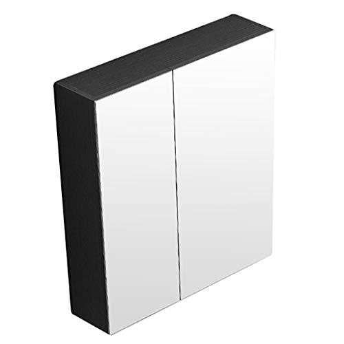 Mirror Cabinets Spiegelschrank Separate, Vollständig Geschlossene Spiegelschrank Toilettenschrank Badezimmerschrank Toilettenspiegel Multifunktional (Color : Black, Size : 70 * 65 * 12cm)