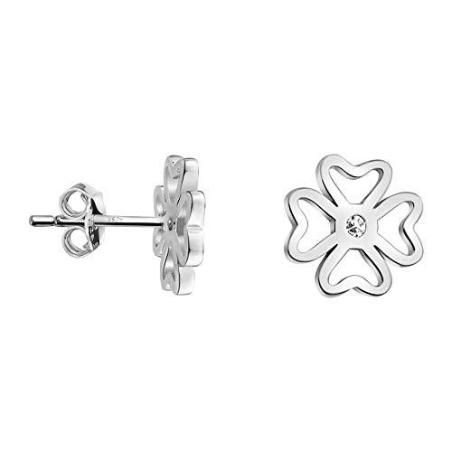 SOFIA MILANI - Pendientes de mujer de plata 925 - con circonitas - Pendientes de flores - 20998
