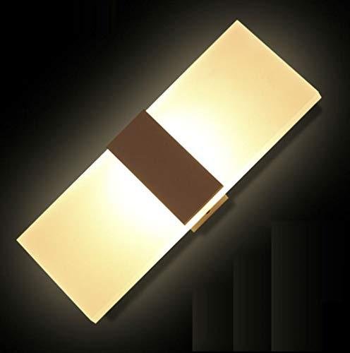 Lámpara de pared LED acrílica minimalista moderna para sala de estar fondo dormitorio pasillo entrada baño espejo luz
