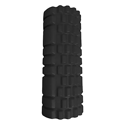 KDOAE Rodillo de Espuma Eje de Espuma EVA Volver a Espalda Pilates Columna Barra de Balance Hueca para Columna de Yoga doméstica para Hacer Ejercicio en Casa (Color : Black, Size : 13.5x33.5cm)
