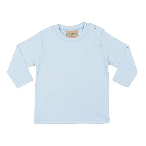 Larkwood - T-shirt à manches longues 100% coton - Bébé et enfant (18-24 mois) (Bleu pâle)