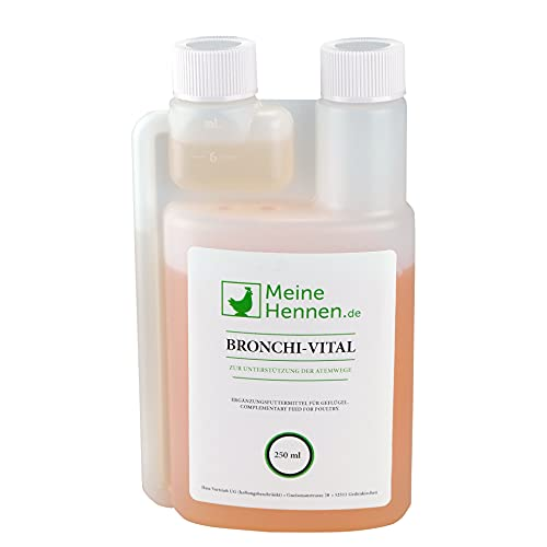 Bronchi-Vital 250 ml mit Eukalyptus und D-Panthenol, speziell für Geflügel zur Unterstützung der oberen Atemwege bei bronchialen Erkrankungen - für Tauben, Wachteln und Hühner