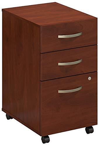 Bush Business Furniture 3 Drawer Mobile File Cabinet, Hansen Cherry