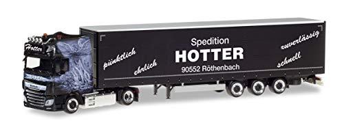 herpa 311120 DAF XF SSC Facelift Lowliner-Sattelzug Spedition Hotter Auto/LKW in Miniatur zum Basteln Sammeln und als Geschenk, Mehrfarbig