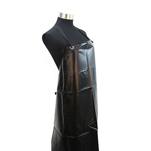 PIXNOR Delantal Unisex impermeable para carniceros cocina (negro)