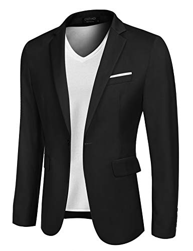 COOFANDY Men's Sportcoat Jacket Slim Fit Lapel Pockets Causal Party Blazer