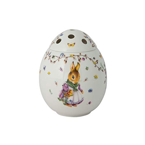 Villeroy & Boch Spring Fantasy Ei, Emma und Paul, Vase für Blumen, Premium Porzellan, 17.5 x 17.5 x 21 cm, bunt, 17,5x17,5x21