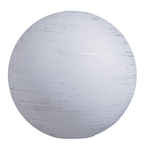 Cristal esférico de 140 mm de diámetro, cristal de repuesto E14, cristal opalino, pantalla redonda con forma de bola, color blanco y plateado