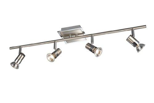 BRIGHTLIGHT Philips Bright Light - Lámpara de Techo con 4 focos led (Intensidad Regulable, Ahorro energético de 3 W)