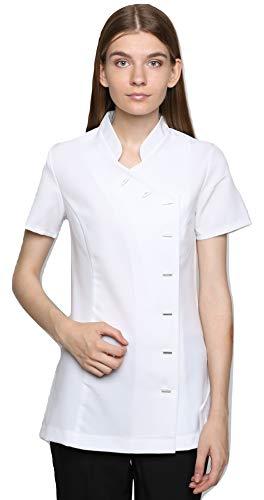 Mirabella Health & Beauty Damen Berufsbekleidung Kasack Arete Weiß, Gr.- 38/Herstellergröße- 10