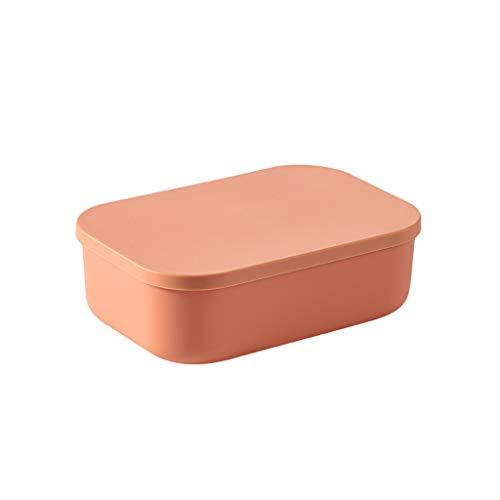shiftX4 Cajas de almacenamiento de plástico para el hogar con asas de tapa, color de contraste, cestas de almacenamiento de plástico para escritorio, oficina, hogar y cocina organizadoras
