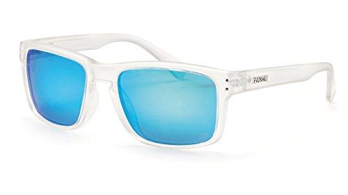 Filtral Polarisierte Sonnenbrille/Blau verspiegelte Sonnenbrille für Damen und Herren mit transparentem Rahmen F3025709