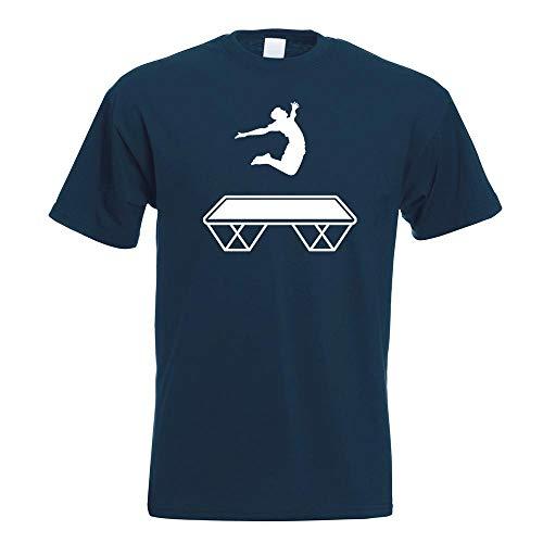 Trampolin Springen Figur T-Shirt Motiv Bedruckt Funshirt Design Print