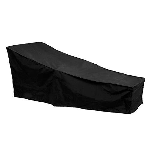 F Fellie Cover Couverture de Bain de Soleil Housse de Chaise Longue extérieur Imperméable, Bâche Transat Sunlounger 210 * 75 * 80/40cm Noir