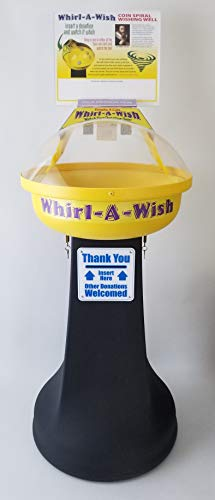 Deluxe Whirl-A-Wish Coin Vortex Funnel Spiral Wishing Well Vortex - Fund Raising - Non-Profits, Schools, Churches, Youth Groups, Clubs