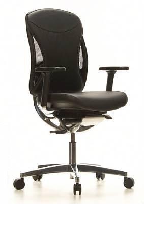Topstar Schwerlaststuhl/Bürostuhl STABLY Chair 30 Leder schwarz