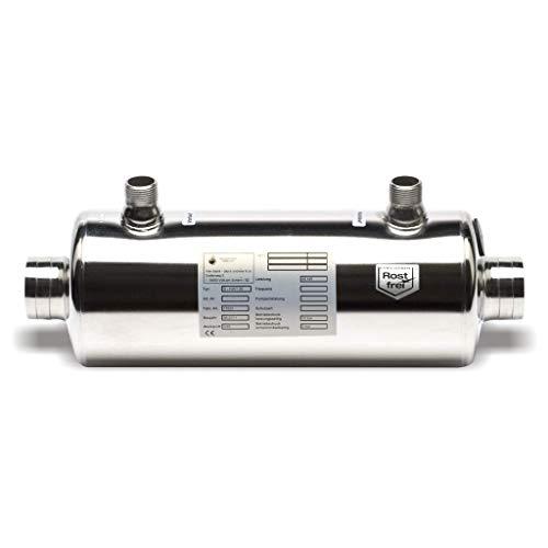 well2wellness® Dapra Wärmetauscher 42kW in Edelstahl