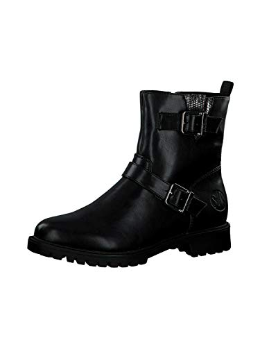 s.Oliver Damen Stiefeletten 25413-25, Frauen Biker Boots, Ladies feminin elegant Women's Women Woman Freizeit leger Stiefel Lady,Black,40 EU / 6.5 UK
