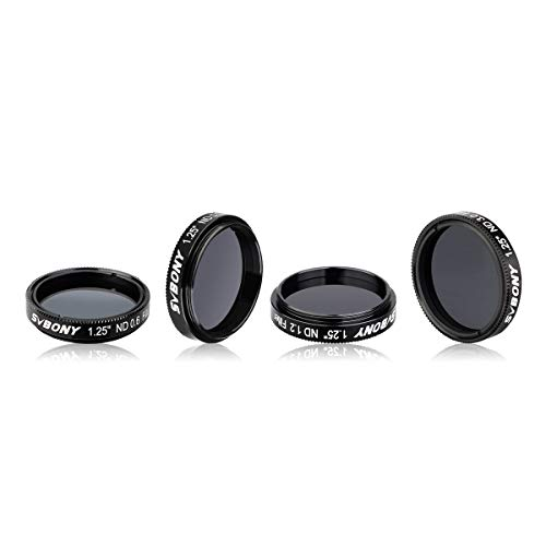 SVBONY SV139 ND Filter Telescope Moon Filter Kit 1.25 inch ND4 ND8 ND16 ND1000 for Telescope Eyepiece Reduce Overall Brightness
