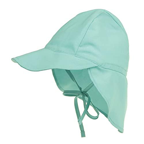iSunday Unisex Bebé Multifuncional Sombrero Plegable Niños Sombreros Del Cubo Del Niño Sombreros Con Solapa De Cuello Desmontable Verde
