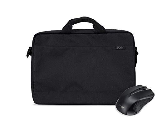 Acer Notebook Starter Kit Tasche + Acer Wireless Maus (geeignet für bis zu 15,6 Zoll Notebooks und Chromebooks, inklusive kabelloser Maus) schwarz