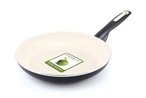 GreenPan Ceramic Fry Pan, 24 cm, Black Cream