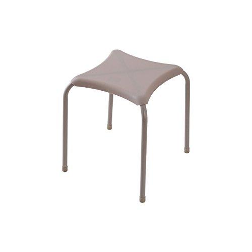 Feridras 868003 Tabouret carré, métal, Taupe, 34.5 x 34.5 x 40 cm