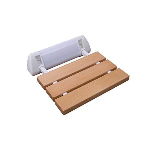 JKUNYU Baño de asiento de baño taburete de ducha de madera Panel de pared Silla plegable Zapatos cambiantes heces pared taburete de baño taburete de baño, cuarto de baño, terraza Sillas de ruedas de b