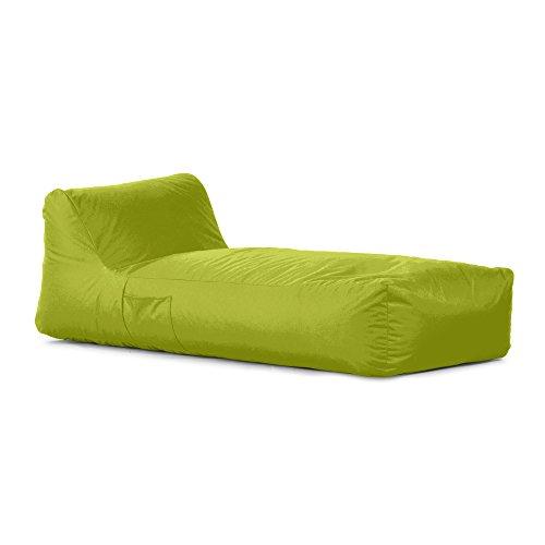 Avalon Pouf a Forma di Letto in Tessuto Tecnico Impermeabile e antistrappo Samba per Esterno Colore Verde Mela sfoderabile