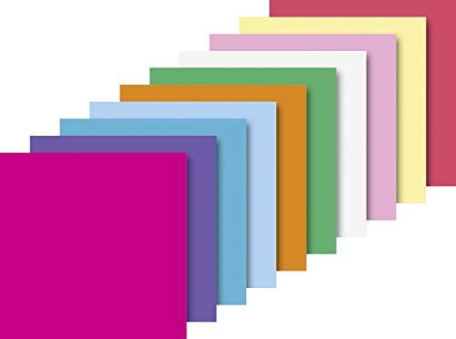 Heyda 204875520 Faltblätter uni 20 x 20 cm 10 Farben Sortiert