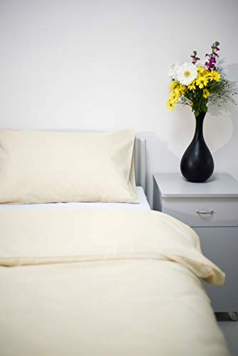 Dark Blue International Flame Retardant Bed Linen Pillowcases-Envelope End (50 cm x 76 cm, Single) 522729-202.02, Cream, 30 (W) x 20 (H) inches (Standard)