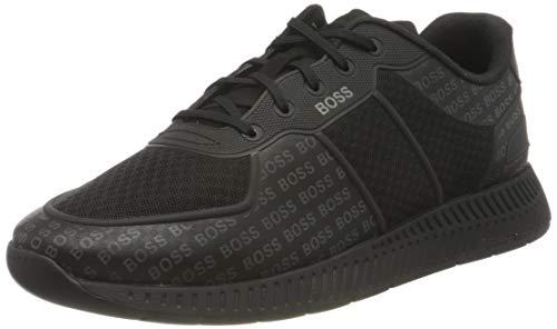 BOSS Herren Titanium_Runn_memllg Sneaker, Black1, 41 EU