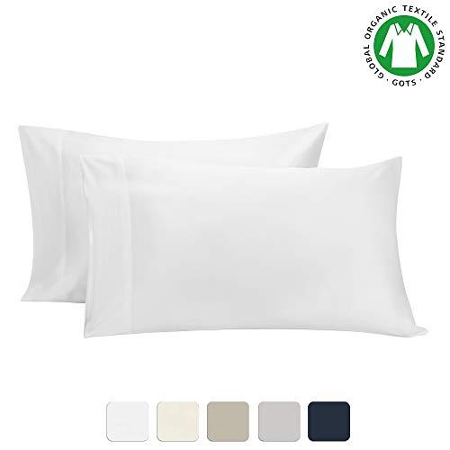 BIOWEAVES 100% Organic Cotton Pillow Cases 300 Thread Count Soft Sateen...