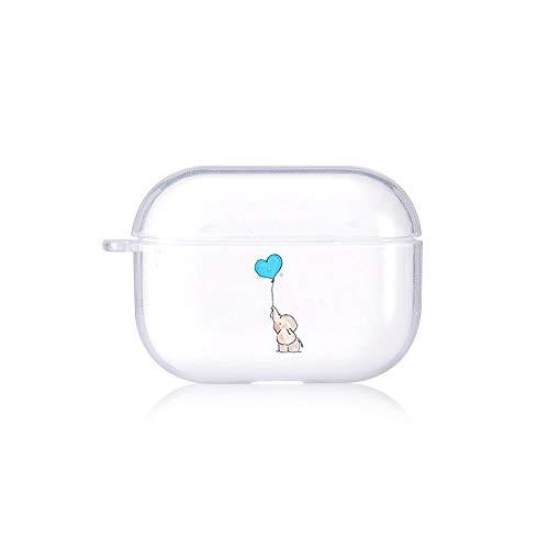 Funda protectora para AirPods AIR POD Dibujos animados Elefante Coque Airpods Pro Caso Lindo Amor Heart Funda Claro Airpods 2 Caso Accesorios para auriculares de silicona de lujo Funda protectora para