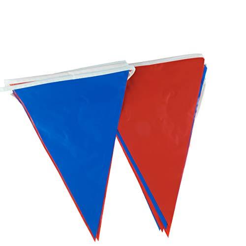 goodymax® Wimpelkette 10 m Blau-Rot - viele weitere Farben & Farbkombinationen zur Auswahl