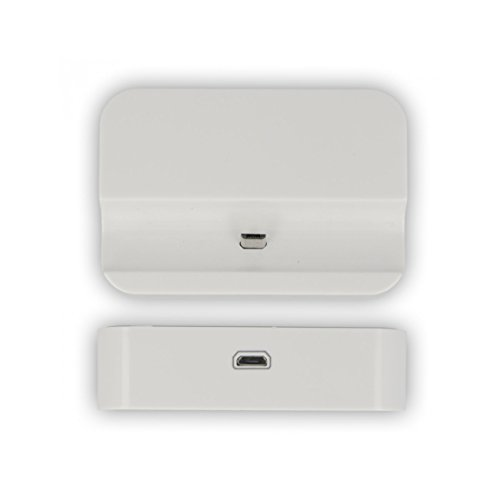 Universell Ladestation Docking Station Tischlader für Samsung S Plus i9000, S2 i9100, S3 Mini i8190, S4 Mini i9190, S3 i9300, S4 i9500, S4 Mini i9190 für Geräte mit micro USB Ladekabel