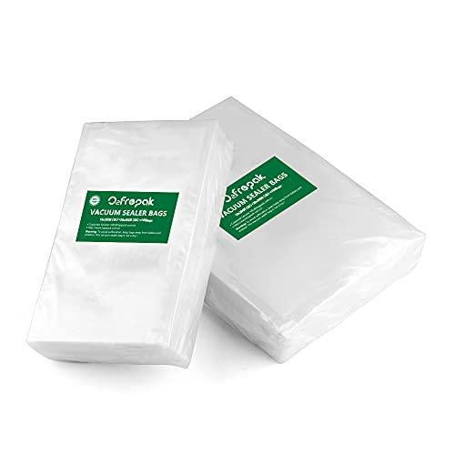 O2frepak 100 Bolsas (50)15x25cm y (50)20x30cm Bolsas Envasar al Vaci Vacio Alimentos Bolsas de Vacío de Alimentos,Bolsas para Envasar al Vacío Envasado al Vacío para Alimentos Sin BPA