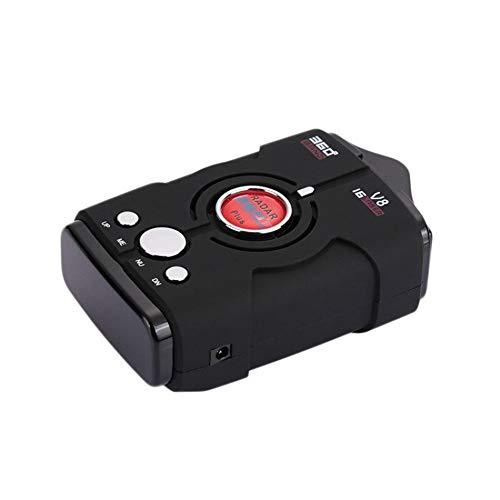 Dispositivo de advertencia de seguridad del automóvil del velocímetro móvil del radar del automóvil V8 Perro electrónico 12V Sistema de alarma y seguridad en inglés Portátil externo Fácil de instalar