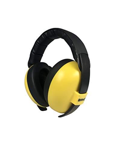 Banz Orejeras con protección para bebés y niños pequeños (clasificación de los líderes del sector para reducción de ruido y protección acústica), color amarillo