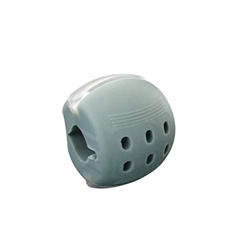 Nahrungsmittelkieselkieselgel Jawline Übung Kauball Muskeln Training Fitness Ball Nacken Gesicht Toning Jawzrsisize Kiefermuskeltraining (Color : Gray)