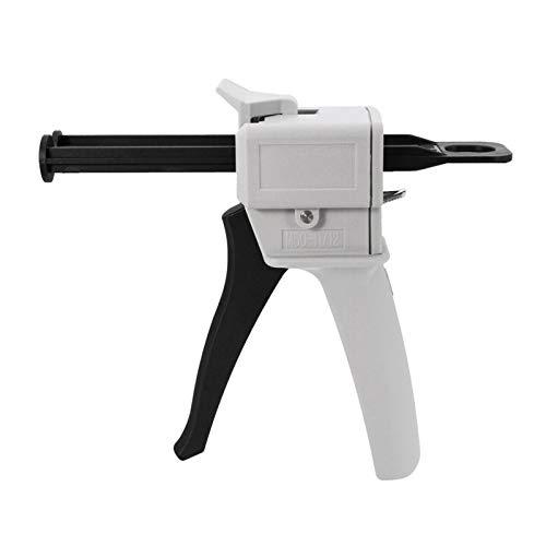 flygogo Pistola de calafateo AB AB Epoxy Glue Aplicador Aplicador Pegamento Adhensional Cartucho Pistola 1: 2 1: 1 AB Pegamento Dispensador Manual Pistola Pistola de Pegamento 50ml Capacidad