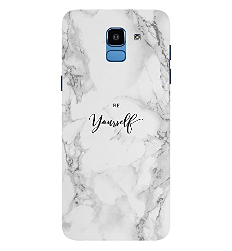 CreativeSoul ''Be Yourself-Marble Patten'' Printed Hard Back Case for Samsung Galaxy J6 (2018) / Samsung Galaxy On6 (2018), Designer Cases & Covers for Your Smartphones