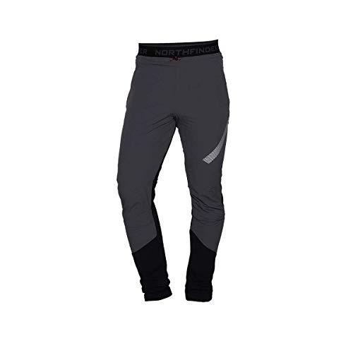 NORTHFINDER Polartec Power Stretch Pro DERESE - Pantaloni da sci da uomo grigio XXL